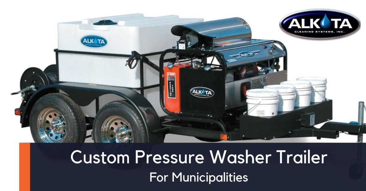 custom pressure washer trailers